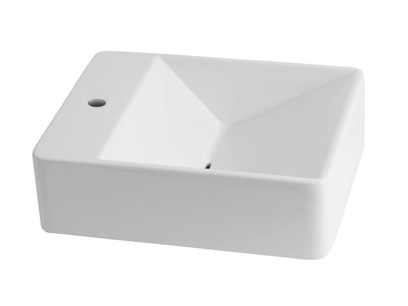 Rectangular wall-mounted washbasin CRYSTAL | Rectangular washbasin - Olympia Ceramica