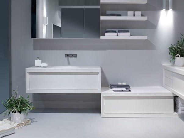 Mobile lavabo laccato singolo in frassino impound for Berti arredamenti