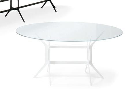Oval crystal table ARABESQUE | Oval table - YDF