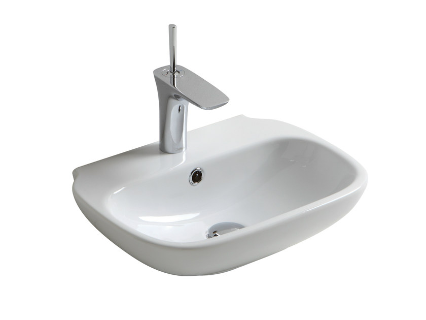 Rectangular washbasin CLEAR 64CL - Olympia Ceramica