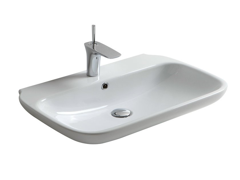 Rectangular washbasin CLEAR 08CL - Olympia Ceramica
