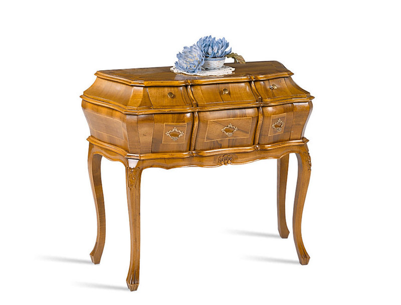 Baroque wooden console table with drawers LAGUNA by SELVA