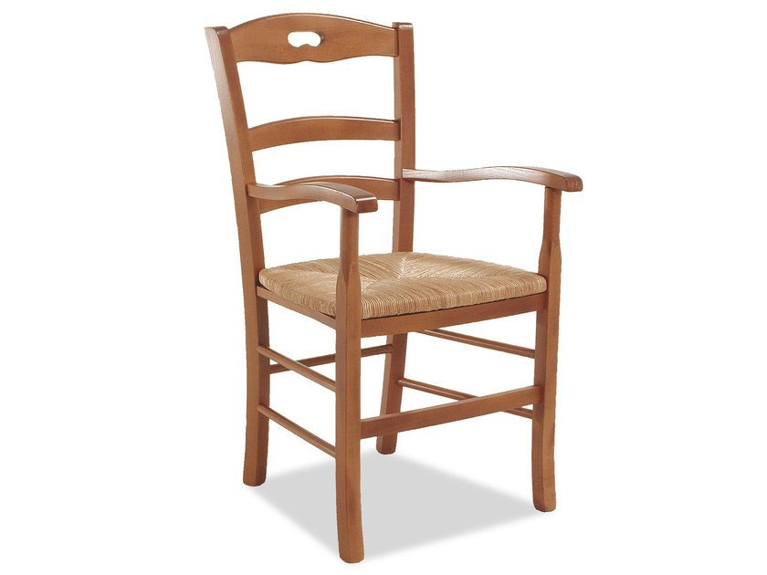 Beech chair with armrests SAVOY 42 BP - Palma