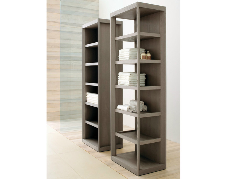 Tall open ash bathroom cabinet VISONE | Tall bathroom cabinet by GD Arredamenti
