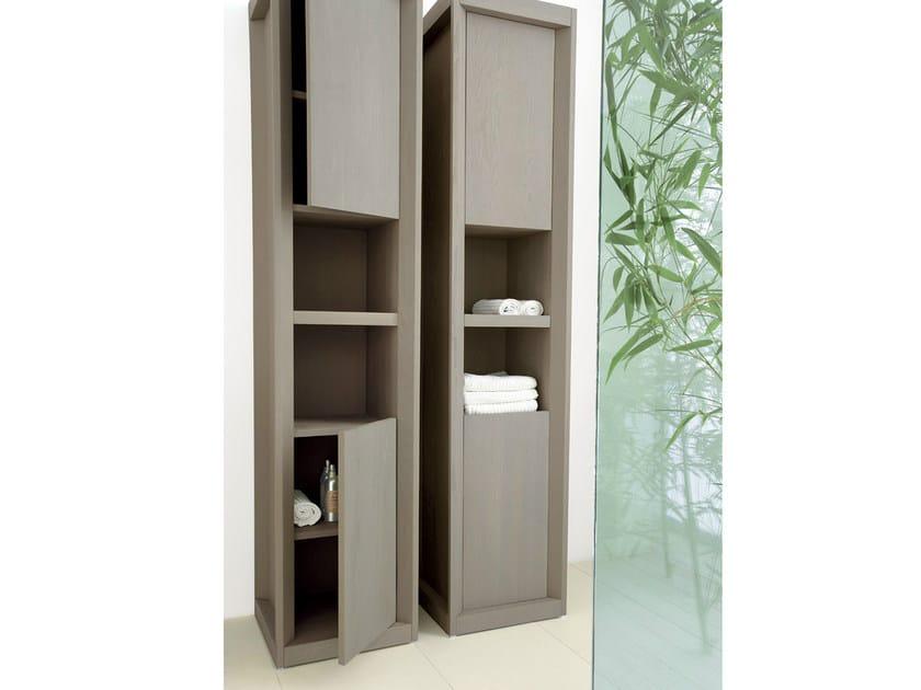 Mobile bagno a colonna in frassino con ante collezione - Armadietti bagno ikea ...