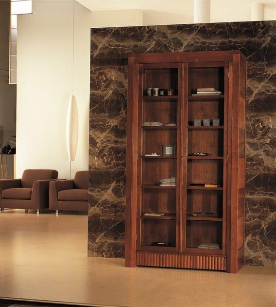 Libreria vetrina in legno e vetro scacchi morelato - Morelato mobili ...