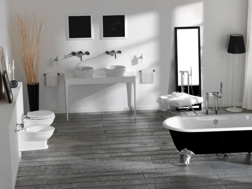Double console sink with drawers IMPERO   Console sink with drawers by Olympia Ceramica