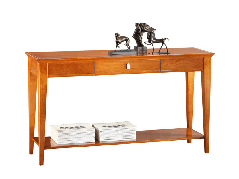 Rectangular wooden console table with drawers SOPHIA | Console table - SELVA