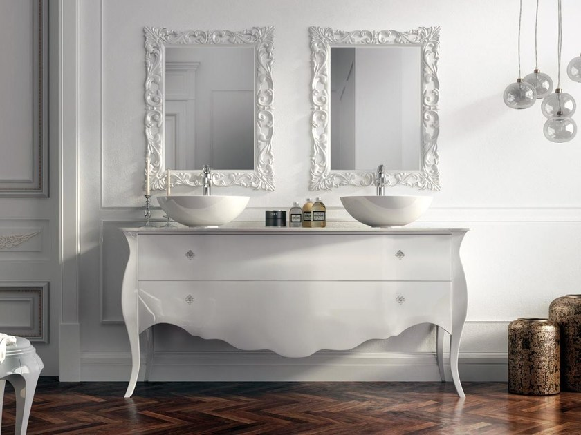 Classic style double lacquered vanity unit with drawers BELLAGIO 20 - LASA IDEA