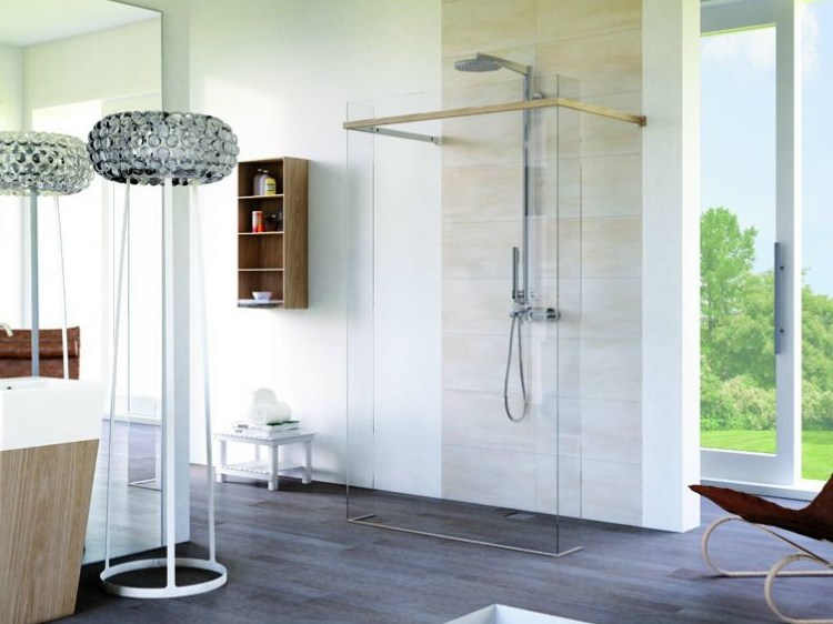 Rectangular glass shower cabin MATERIA SP1 - MEGIUS