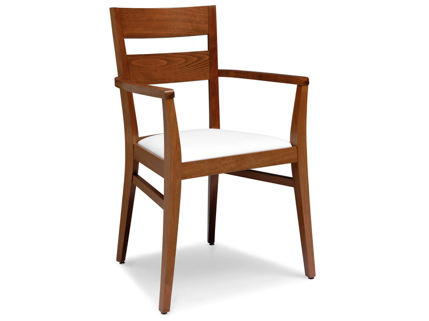 Beech chair with armrests SILLA 472 AP - Palma