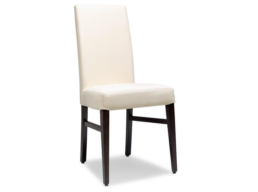 Upholstered beech chair LADY 47 OG - Palma