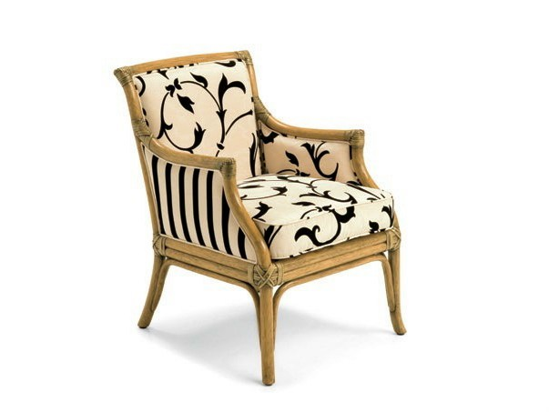Rattan easy chair with armrests JOSEPHINE - Dolcefarniente by DFN