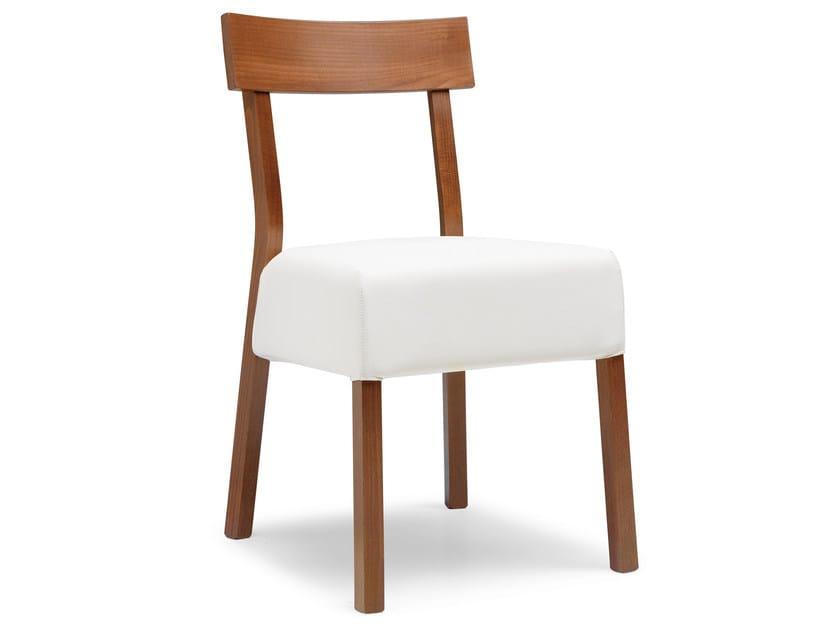 Upholstered beech chair ITALIA 439 E - Palma