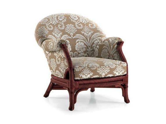 Upholstered rattan armchair SOPHIE | Armchair by Dolcefarniente