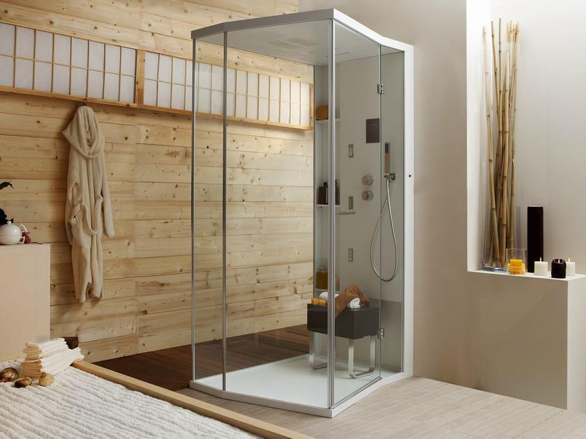 Multifunction shower cabin with hinged door WELLDREAM | Shower cabin with hinged door by MEGIUS