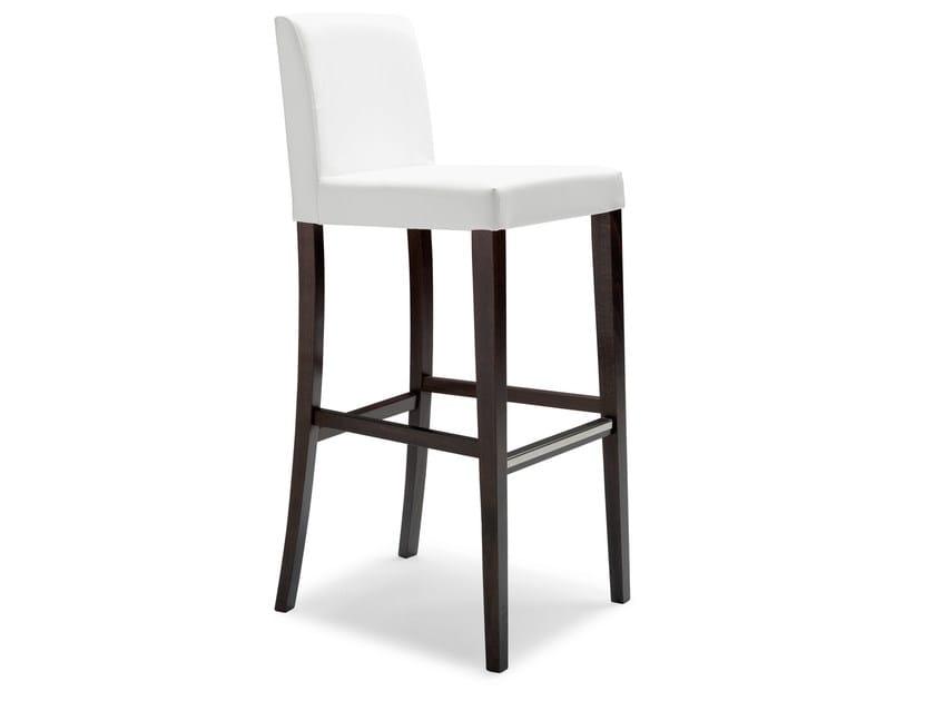 Upholstered beech stool LADY 47 OGi - Palma