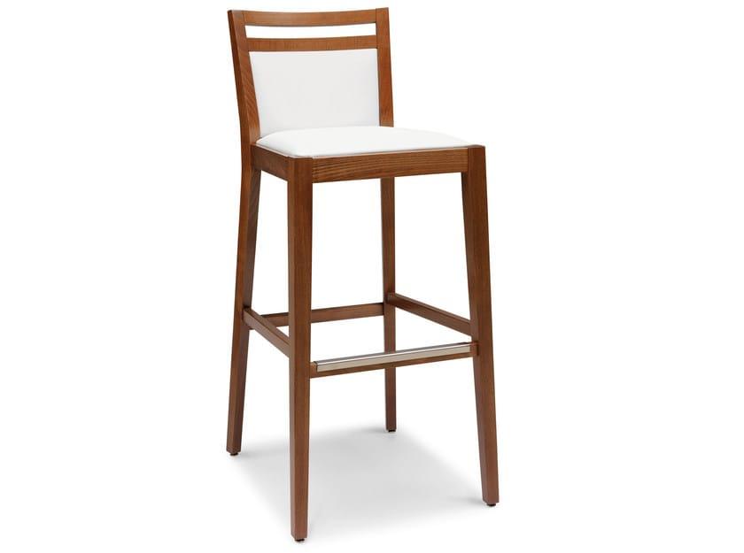 Upholstered beech stool SURI 472 Ci - Palma