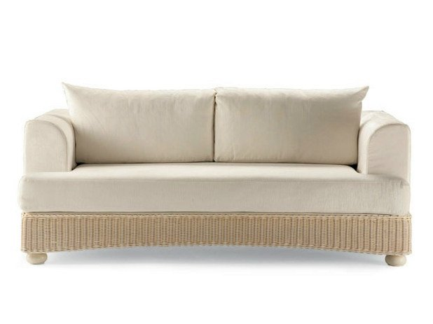 3 seater woven wicker sofa LEDA | 3 seater sofa by Dolcefarniente