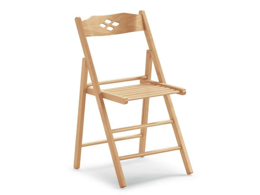 Folding beech chair EVELINE 451 B - Palma