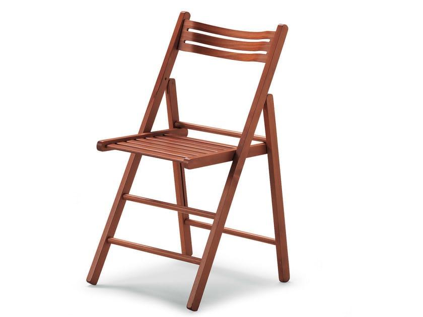Folding beech chair LUIS 451 D - Palma