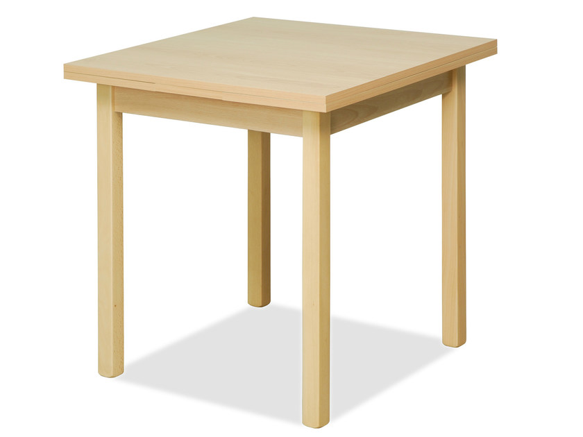 Square beech table BISTROT | Square table - Palma
