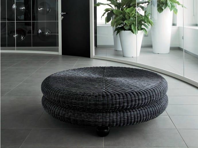 Woven wicker pouf / coffee table MELANGE - Dolcefarniente by DFN