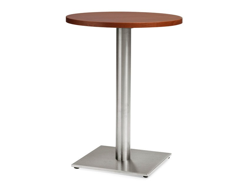 Stainless steel and wood high table TENDO - Palma