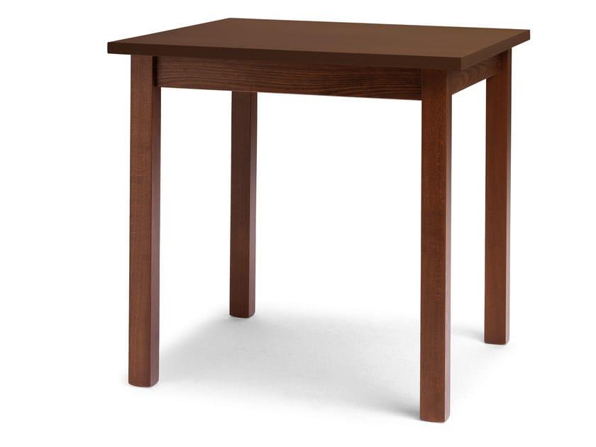 Square beech table PORTLAND - Palma