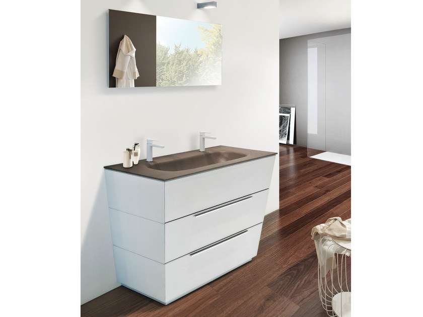 Single vanity unit with drawers LIBECCIO 40 - LASA IDEA