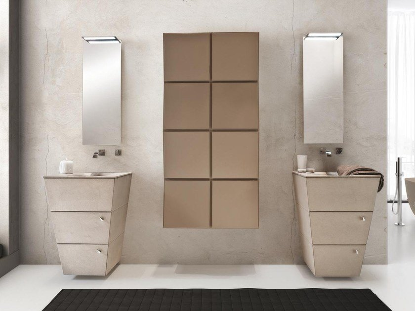 Floor-standing single wooden vanity unit with drawers LIBECCIO 30 - LASA IDEA