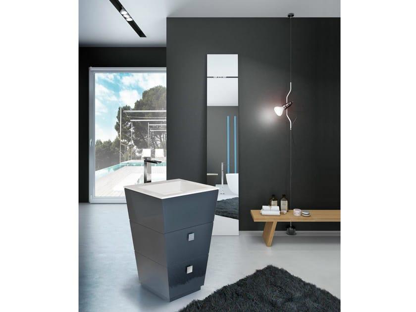Single vanity unit with drawers LIBECCIO 50 - LASA IDEA