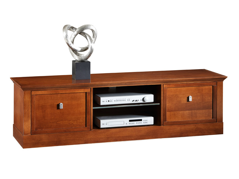 Low wooden TV cabinet SOPHIA | Wooden TV cabinet - SELVA