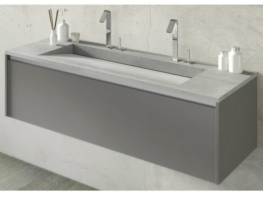 Single wall-mounted vanity unit FLOW 30 by LASA IDEA