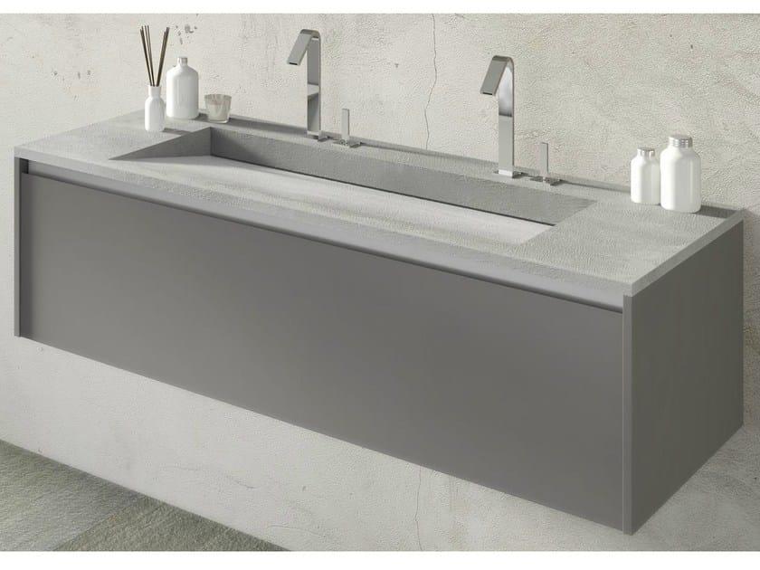 Single wall-mounted vanity unit FLOW 30 - LASA IDEA