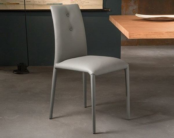 Design upholstered leather restaurant chair SONIA | Leather chair - RIFLESSI