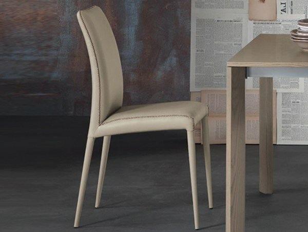 Leather restaurant chair BRUNA FLEX | Chair - RIFLESSI