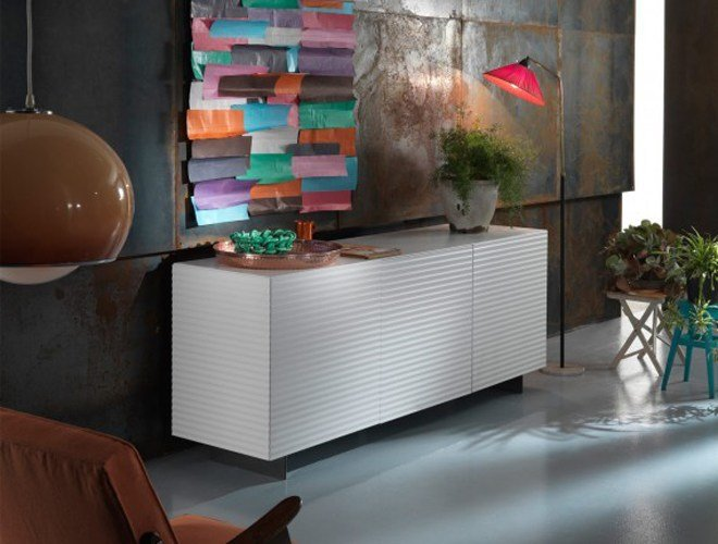 Lacquered sideboard with doors OLA - RIFLESSI