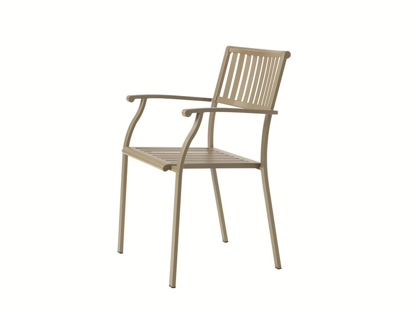 Stackable garden chair with armrests ELISIR | Chair with armrests - Ethimo