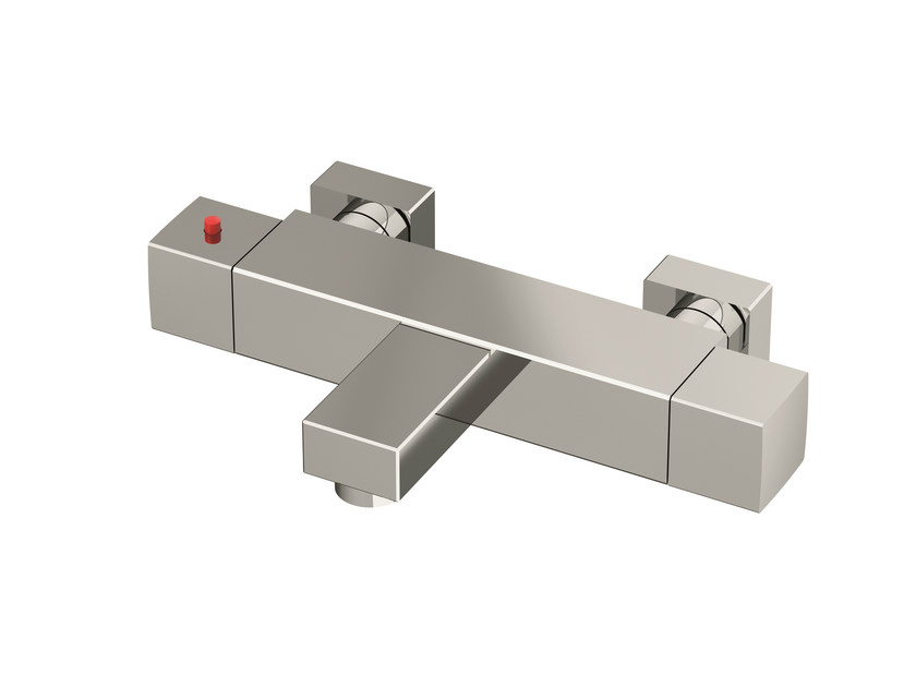 Thermostatic chrome plated steel bathtub tap TSQU202 | Thermostatic bathtub tap - Gattoni Rubinetteria