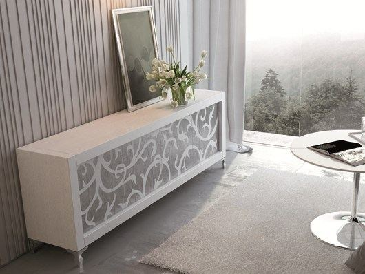 Wooden sideboard with doors PICASSO | Sideboard Intarsio Door - RIFLESSI