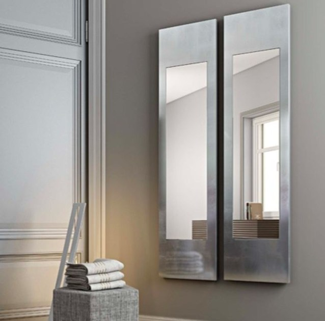 Wall-mounted framed mirror ALISEI by RIFLESSI