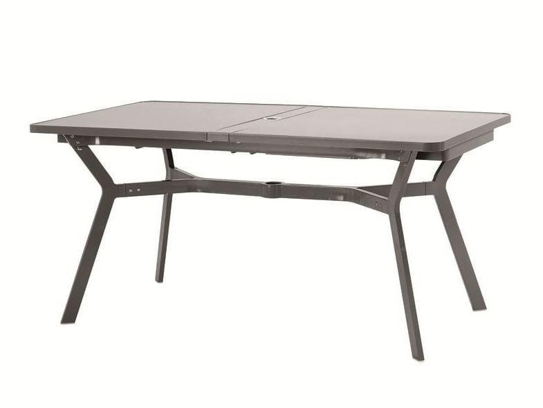 ausziehbarer gartentisch aus aluminium rechteckiger tisch. Black Bedroom Furniture Sets. Home Design Ideas