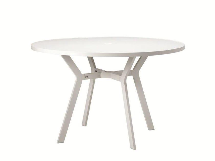 Round aluminium garden table OCEAN | Round table - Ethimo