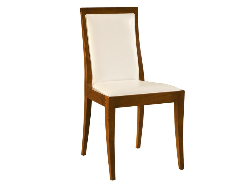 Upholstered cherry wood chair VESTA | Chair by Morelato
