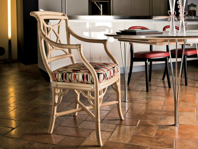Rattan chair with armrests ARIANNA | Chair with armrests - Dolcefarniente by DFN