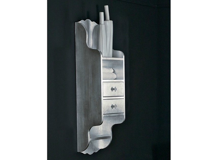 Classic style silver leaf wall cabinet with drawers BELLAGIO | Wall cabinet - LASA IDEA