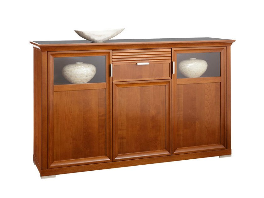 Sideboard with drawers with doors LUNA | Sideboard with doors by SELVA