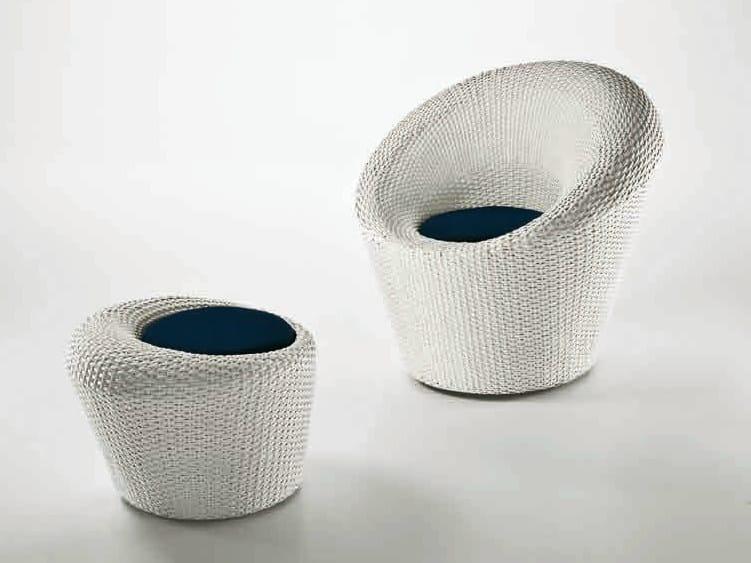 Round resin garden pouf MARATEA | Garden pouf by Dolcefarniente