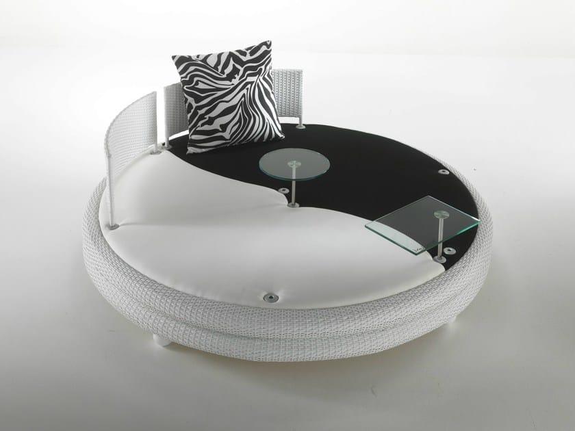Round fabric garden sofa MOOFOSHI - Dolcefarniente by DFN